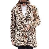 Manadlian Damen Streetwear Kleidung Frauen Herbst Winter Wollmantel Leopard Jacke Langarm Print Pullover Fleecejacke Sweatjacke