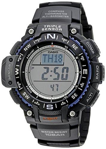 Casio Herren Uhr digital Quarzwerk mit Sonstige Materialien Armband SGW-1000-1ACR