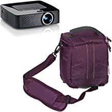 Navitech Lila Schutzmaßnahmen Portable Handheld Tasche Projektor Tragetasche und Reisetasche für die iDGLAX iDG-787W