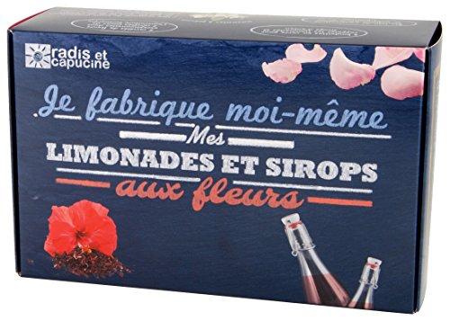 Radis et Capucine Coffret de Fabrication de Limonade et Sirop de Fleur Multicolore 18 x 28 x 9 cm