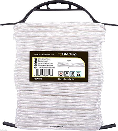 Sterling Locks nrw630Sterling 6mm geflochten Nylon Seil, 30m, weiß -