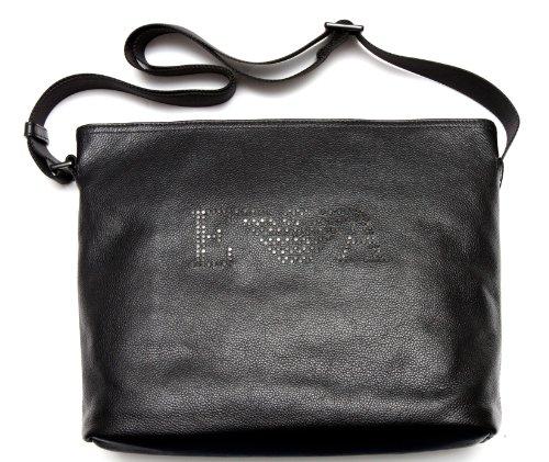 Preisvergleich Produktbild Emporio Armani Leder Schultertasche Tasche YEMC37 YH033