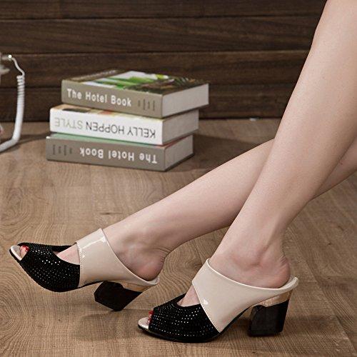 ♥ Loveso ♥ Damenschuhe 2017 Frauen Shining Pantoffeln Sandalen Beige