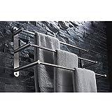 ZHEN GUO Zeitgenössische 304 Edelstahl Gebürstetes Finish 3 Handtuchhalter Wand Handtuchhalter Kleiderbügel, 60 cm Handtuchhalter Bad-Accessoires (größe : 60cm/23.6 inches)