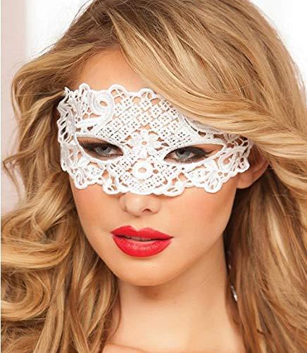 Weißen Maske Kostüm Alle - JRKJ Schnürmaske Gruselige & Lustige Masken - Perfekt Für Karneval & Halloween - Erwachsenen Kostüm Unisex Für Alle , Clown @ Weiß