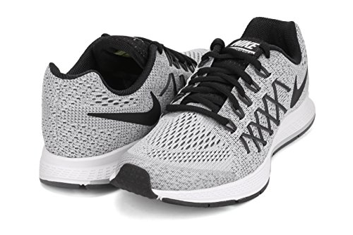 Nike Zoom Pegasus 32 (gs), Unisex-Kinder Outdoor Fitnessschuhe Argento (Silver - PURE PLATINUM/BLACK-DARK GREY)