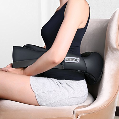 MARNUR Shiatsu Back Neck Massager Electric Shoulder Massager with Heat Deep Kneading Tissue Massage for Muscle Pain Relief Relaxtion on Office Home Car