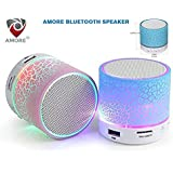 Amore Latest Wireless LED Bluetooth Speaker Compatible With Samsung, Motorola, Sony, Oneplus, HTC, Lenovo, Nokia, Asus, Lg, Coolpad, Xiaomi, Micromax And All Android Mobiles. Music Walk Wireless Led Lights Bluetooth Speaker Mp3 Player & Fm Radio Speak