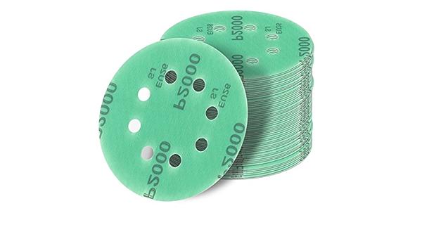 grain P80 Lot de 5 disques abrasifs P80 200 mm avec adh/ésif pour /étag/ère PSA 8 pouces en zirconium dos adh/ésif