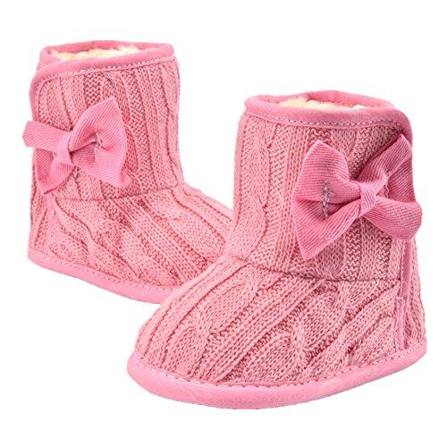 Fletion Winter Baby Warme Stiefel Kleinkind Weiche Sohlen Baumwolle Schuhe Säuglings Plüsch Stiefel Wassermelone rot