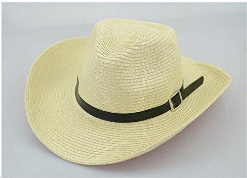 WDBS Gli uomini di cappello di paglia di estate cavallo cowboy occidentale Liang Mao Cap cappello outdoor cappello di paglia di estate , deep