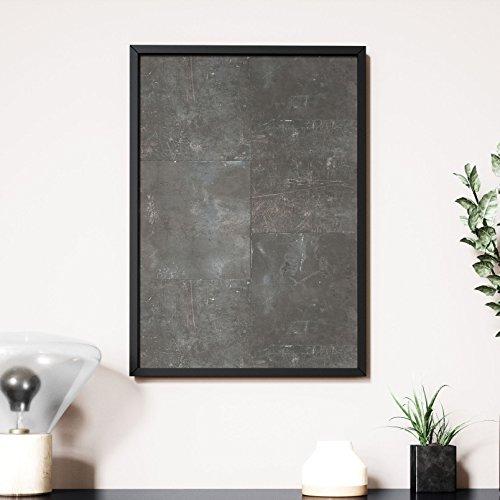 Newroom Design NEWROOM Wandbild 70x50cm Wandposter fertig zum Aufhängen gerahmt Eisen Platten...