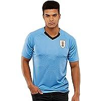TOOGOO Coupe du Monde Hommes Sportswear Football Uruguay Chemise Respirant A Manches Courtes Chemise Maillots Uniformes Couple Football Kit Chemise Survetement (Hommes, S)