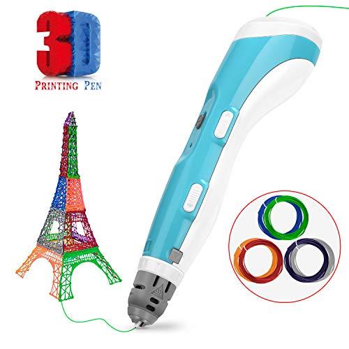 Gifort 3D Stift Zeichenstift Kompatibel 3D Druckstifte mit 1,75 mm PLA und ABS Filamenten,Bastelbedarf und DIY Kit für Kreatives Zeichenspielzeug