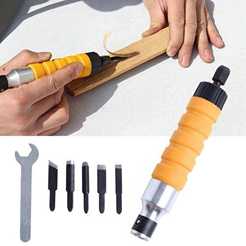 set di strumenti per incisione del legno albero flessibile fai da te BE-TOOL Scalpello elettrico per legno per trapano elettrico