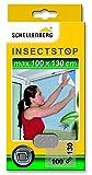 Schellenberg 50712 Fliegengitter für Fenster | zuverlässiger Schutz vor Mücken, Fliegen, Insekten & Ungeziefer | Maße: 100 x 130 cm | weiß | einfache Montage ohne bohren | inkl. Befestigungsband