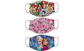 Bon Organik Disney Princess (OFFICIAL MERCHANDISE) 2 Ply Printed Cotton Cloth Face Mask Bundle For Kids (Set Of 3) (4-8Y)