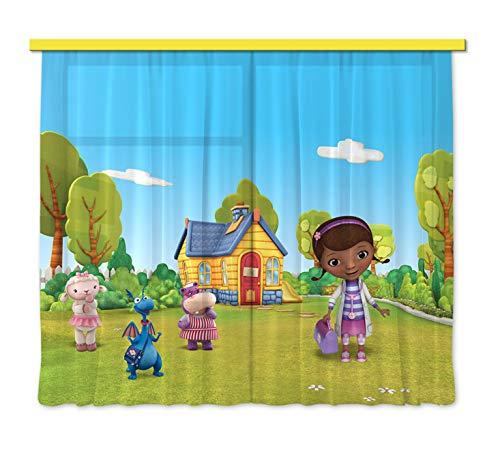 Gardine/Vorhang FCS xl 4318 Kinderzimmer Disney Dr.Mcstuffins (Mcstuffins Dekoration Dr.)