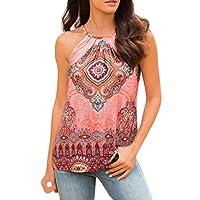 Livoty Women Summer Beach Vest Top Sleeveless Blouse Casual Tank Loose Tops T-Shirt X-Large Pink