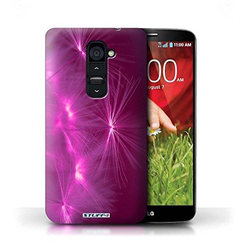 Kobalt® Imprimé Etui / Coque pour LG G2 / Pourpre conception / Série Allumez la vie Rose