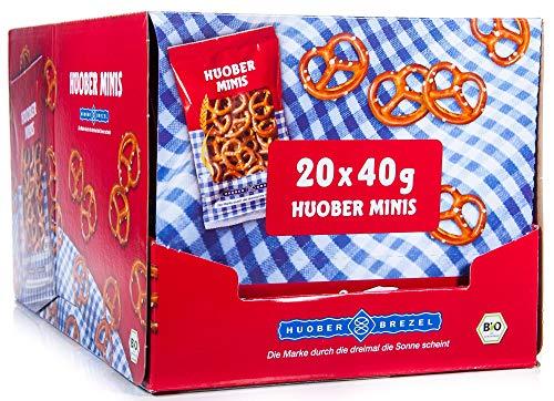 HUOBER bio Mini Brezel, Thekendisplay mit 20 Packungen x 40g