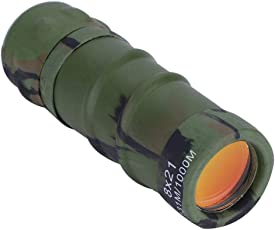 Dilwe Monocular Scope, Portable Lightweight Telescope with Carrying Pouch and Lanyard for Camping Hunting