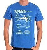 Zurück in die Zukunft Delorean T-Shirt blau XL