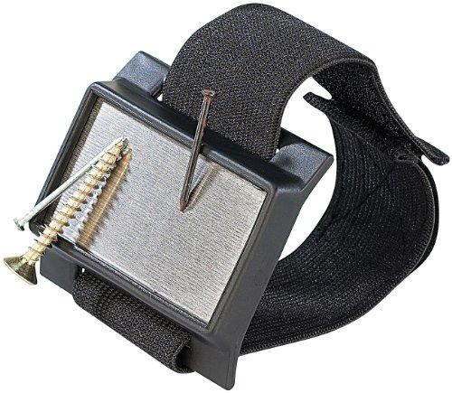 AGT Magnetarmband: Magnetischer Kleinteile-Halter mit elastischem Armband (Armband Magnetleiste)