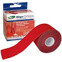 HÖGA-K-TAPE 5 cmx5 m rot kinesiologischer Tape 1 St preisvergleich bei billige-tabletten.eu