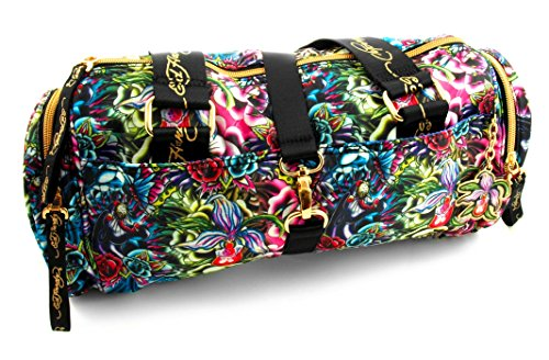 Ed Hardy 1ANY050PAN Reisetasche, Koffer, Travelbag, Henkeltasche, Handtasche, Handgepäck-Tasche - Mehrfarbig / Blau - 36 cm -