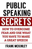 Public Speaking Secrets: How to Overcome Fear and Use What You Have to Make a Great Speech (Leadership Series Book 4)