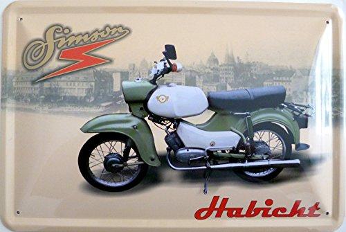 Blechschild 20x30cm - Simson Habicht Motorrad Moped DDR