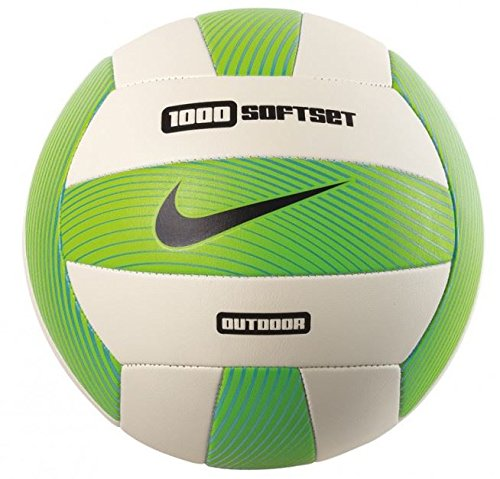Nike Softset Outdoor Volleyball Deflated Electric Green/White/Gamma Blue/Black, 0