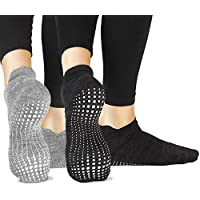 LA Active Grip Socks - Yoga Pilates Barre Ballet Non Slip Covered