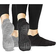 LA Active Calcetines Antideslizantes - Para Yoga Pilates Ballet Barre Mujer Hombre