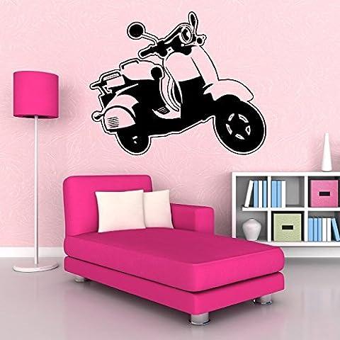 Scooter MS moto vinilo adhesivo decorativo para pared habitación Decal