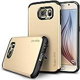 Galaxy S6 Coque - Ringke MAX ***Capuchon Anti-Poussière & Tomber La Protection*** [ROYAL GOLD][Protecteur D'écran Gratuit / SLIM MAX Protection] Couche Double Robuste Étui d'armure De Protection pour Samsung Galaxy S6 (Eco Package)