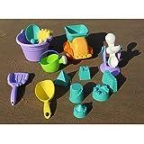 KAIMENG 14 Pezzi Giocattoli da Spiaggia Sabbia Spiaggia Secchio Strumenti Sabbia Bambini Che Giocano Giocattoli da Bagno Secchio annaffiatoio Pale (Colore Casuale)