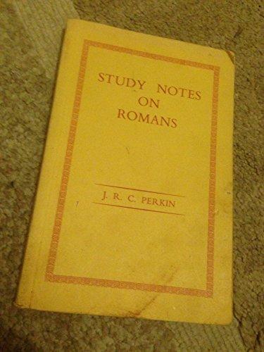 Study notes on Romans