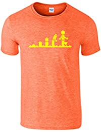 Evolution Lego Hommes Femmes Dames T-Shirt Top Retro
