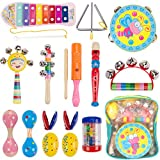 Dkinghome Baby Musical Instruments ,Wooden Toddler Musical Toys Set,Education Toys Gifts with Shaking
