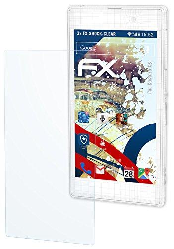 atFolix Schutzfolie kompatibel mit Bestore X8 Panzerfolie, ultraklare und stoßdämpfende FX Folie (3X)