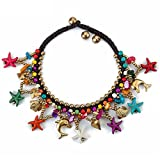 Yellow Chimes Ceramic Bohemian Starfish Collection Anklet for Women (Multicolor)(YCFJAK-313STRFS-MC)