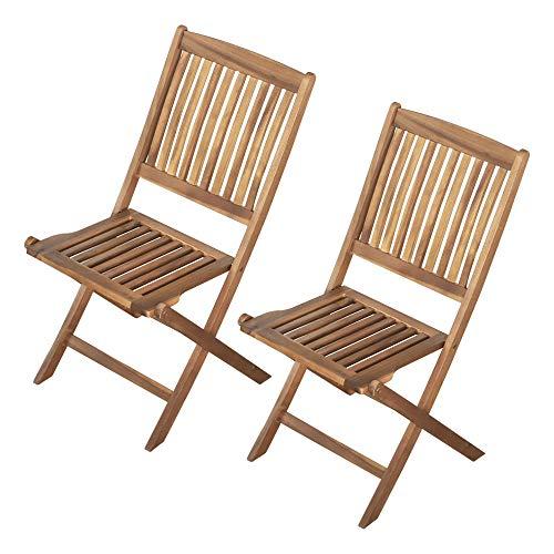 Aktive 61003 - Set 2 sillas Madera Exterior Garden