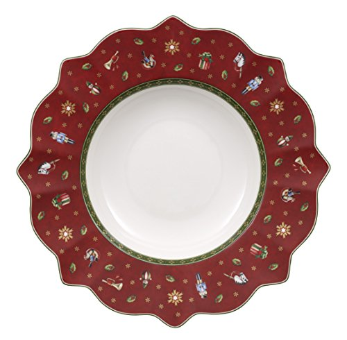 Villeroy & Boch Toy's Delight Assiette creuse rouge, 26 cm, Porcelaine Premium
