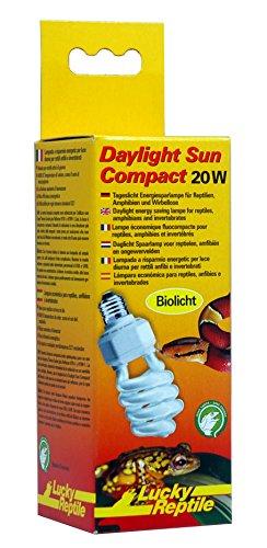 Lucky Reptile DSC-20 Daylight Sun Compact, 20 W, Tageslicht Energiesparlampe für E27 Fassung (Bright Uv Sun)