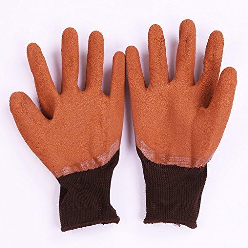 Nylon-Latex-Tauchhandschuhe Arbeitsschutz Atmungsaktive, Strapazierfähige, Rutschfeste Handschuhe (Strapazierfähiger Latex-handschuhe)