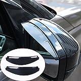baodiparts 2Pcs Rifinitura specchietto retrovisore laterale in fibra di carbonio