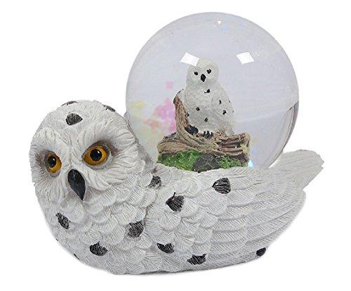 itzerkugel Schneeeule, liegend Schneekugel Tier Tiere Vogel Vögel Schneekugeln Eule ()