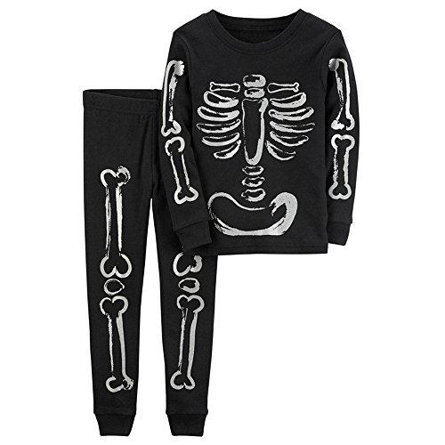 Halloween Kostüm für Kinder Jungen Schädel Drucken Langarm Shirt Tops und Hosen 2 Stücke Schlafanzug Baby-Nachtwäsche Halloween Verkleidung Karneval Party von Innerternet